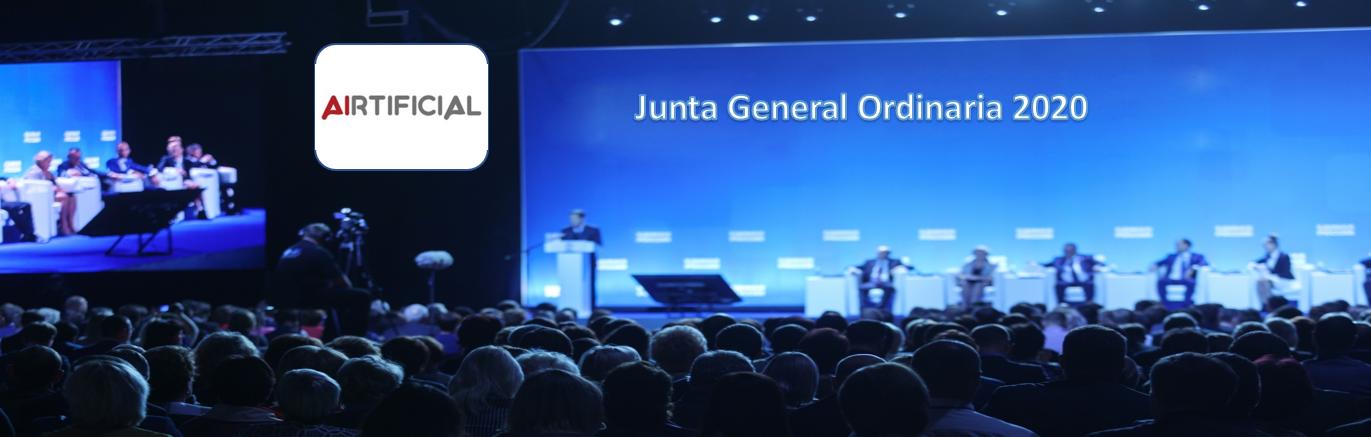 La sociedad Airtificial anuncia Junta General Ordinaria de Accionistas 2020