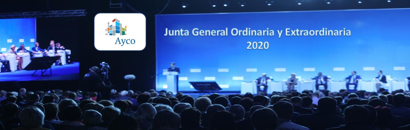 La sociedad AYCO Grupo Inmobiliario anuncia Junta General Ordinaria y Extraordinaria de Accionistas 2020