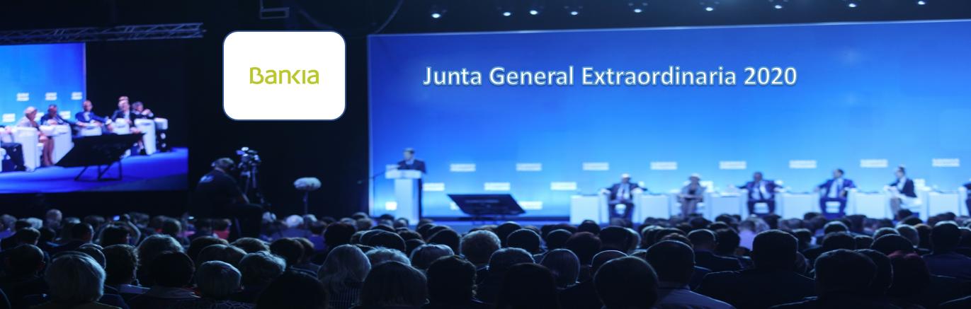 La sociedad Bankia anuncia Junta General Extraordinaria de Accionistas 2020