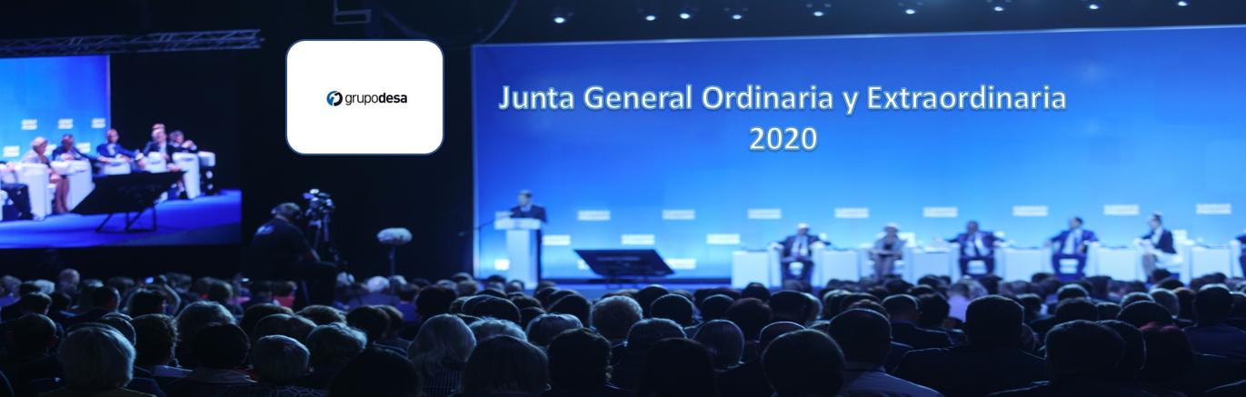 La sociedad DESA anuncia Junta General Ordinaria y Extraordinaria de Accionistas 2020