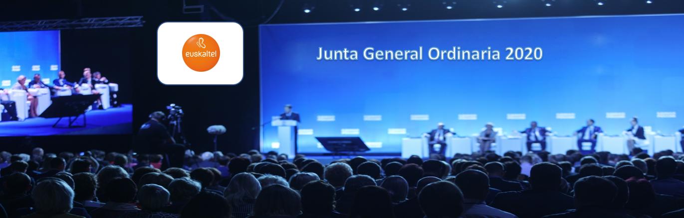 La sociedad Euskaltel anuncia Junta General Ordinaria de Accionistas 2020