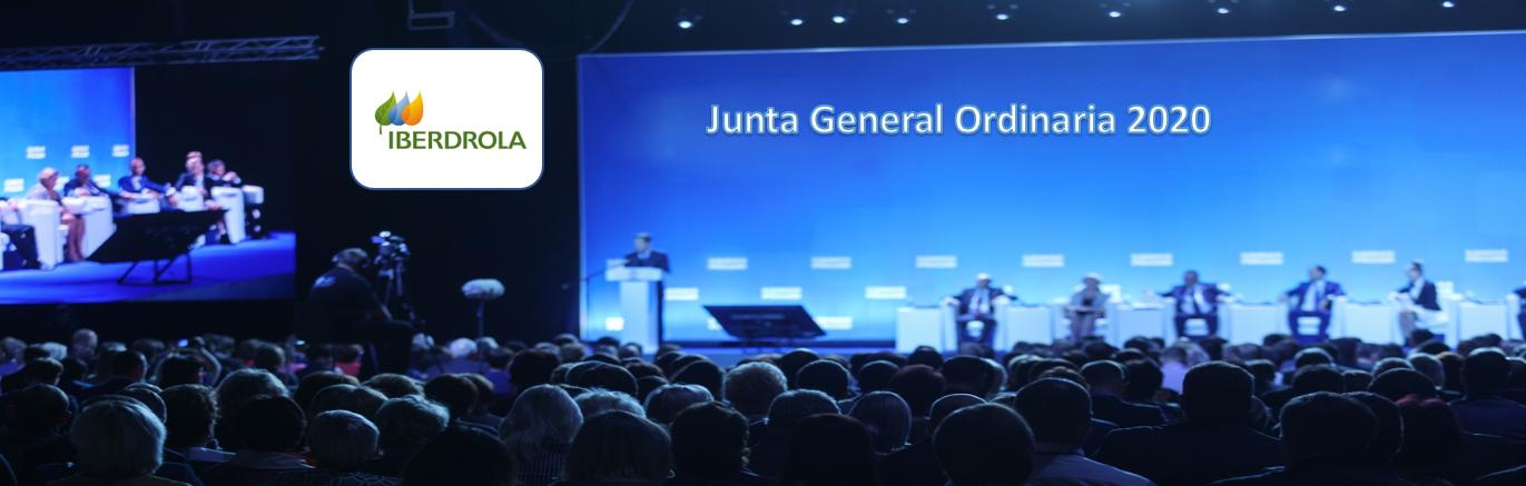 La sociedad Iberdrola anuncia Junta General Ordinaria de Accionistas 2020