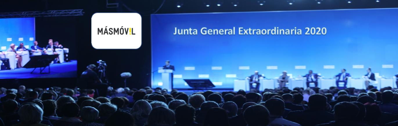 La sociedad Masmovil Ibercom anuncia Junta General Extraordinaria de Accionistas 2020