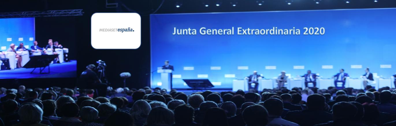 La sociedad Mediaset España Comunicación anuncia Junta General Extraordinaria de Accionistas 2020