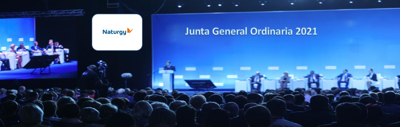 La sociedad Naturgy anuncia Junta General Ordinaria de Accionistas 2021
