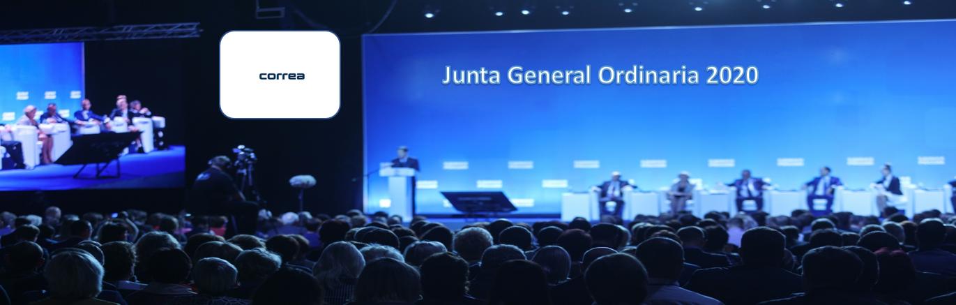 La sociedad Nicolás Correa anuncia Junta General Ordinaria de Accionistas 2020