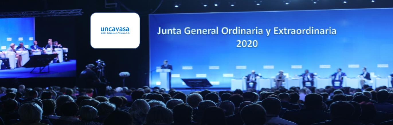 La sociedad Unión Catalana de Valores anuncia Junta General Ordinaria y Extraordinaria de Accionistas 2020
