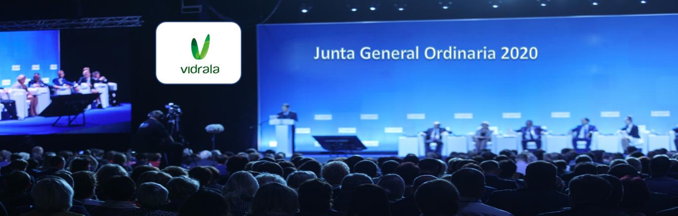 La sociedad Vidrala anuncia Junta General Ordinaria de Accionistas 2020